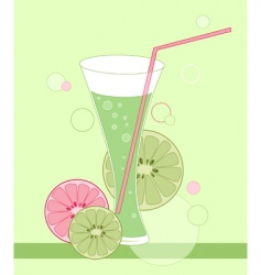 glass of lime juice vector image