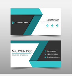 Green label corporate business card name card vector