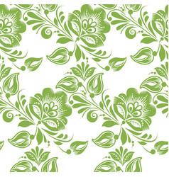 greenery floral leaves seamless pattern background vector image vector image