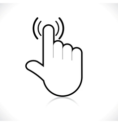 Hand icon pointer vector