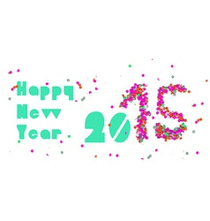 Happy new year 2015 party banner vector image