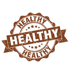 Healthy stamp sign seal vector