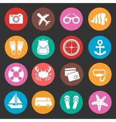 Holiday travel tourism icons vector image vector image