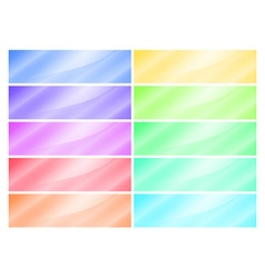 multicolored glossy rectangular banner vector image vector image