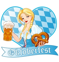 Oktoberfest girl vector image vector image