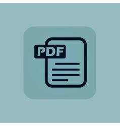 Pale blue pdf file icon vector