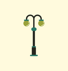 Park lamp light icon vector
