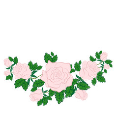 pink rose in the style of flat vector image vector image