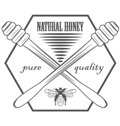 Pure honey vector