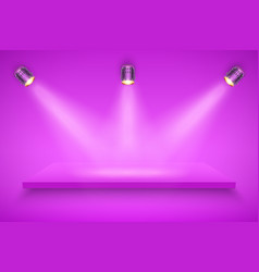 Purple presentation platform vector