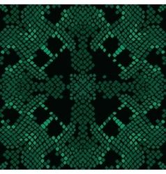 Reptile skin artificial green texture vector