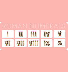 Set of roman numerals 2 vector