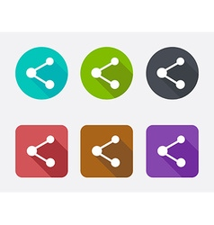 Share icon set vector