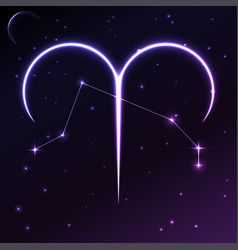 Space symbol of aries of zodiac and horoscope vector