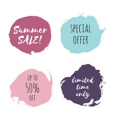 summer sale special offer limited time only vector image
