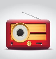 vintage red radio vector image vector image