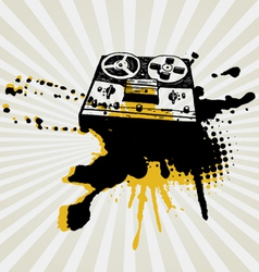 vintage tape recorder vector image