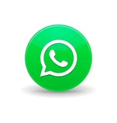 Whatsapp messenger icon simple style vector