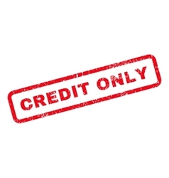 Credit only text rubber stamp vector
