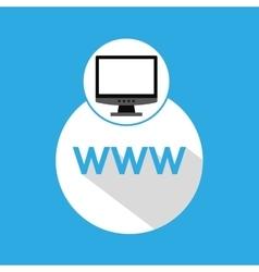 Computer web development www vector
