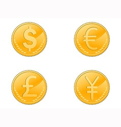 Four coins symbol vector