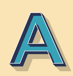 Letter a retro text style fonts concept vector