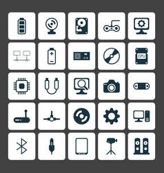 Computer icons set collection of desktop computer vector