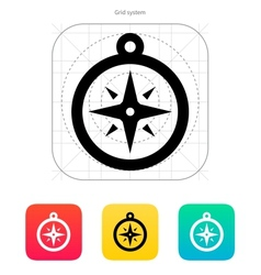 Compass icon navigation sign vector
