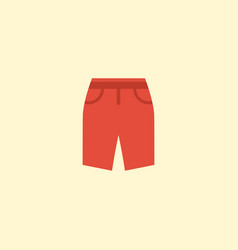 flat icon shorts element of vector image