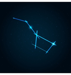 Big dipper constellation vector