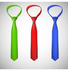 Neck ties collection vector