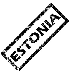 Estonia stamp vector