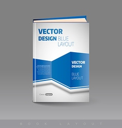 Modern abstract brochure as book Busines theme vector image