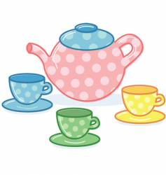 Tea pot vector