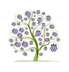 Blackberry tree for your design vector
