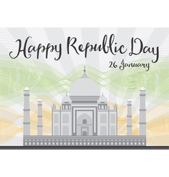Happy indian republic day celebration vector