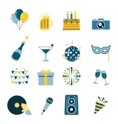 Celebration icons flat vector