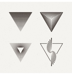 Triangles set  geometric vector
