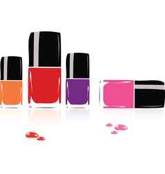 Collection of nail polish vector