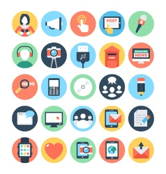 Communication flat icons 6 vector