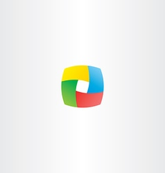 abstract business colorful cube logo square box vector image vector image