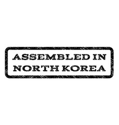 Assembled in north korea watermark stamp vector