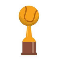 Award cup tennis sport vector