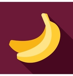 Banana flat icon with long shadow vector