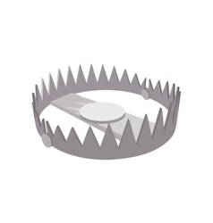 Bear trap cartoon icon vector