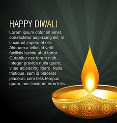 beautiful diwali background vector image vector image