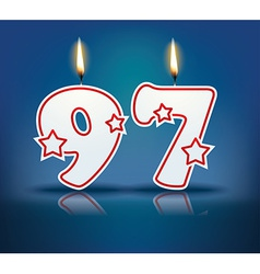 Birthday candle number 97 vector image