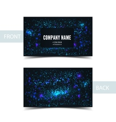 Business card front and back with abstract cosmic vector