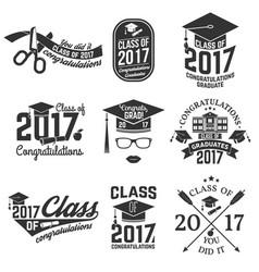 Class of 2017 badge vector