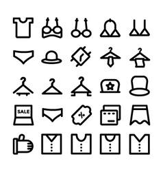 Clothes Icons 12 vector image vector image